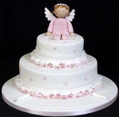 Tortas para bautizo de Minnie - Imagui