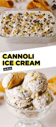 We Can't Stop Eating This Cannoli No-Churn Ice Cream Delish selber machen ice cream cream cream cake cream design cream desserts cream recipes Frozen Desserts, Frozen Treats, Just Desserts, Dessert Recipes, Bar Recipes, Delicious Desserts, Cold Desserts, Italian Desserts, Coffee Recipes
