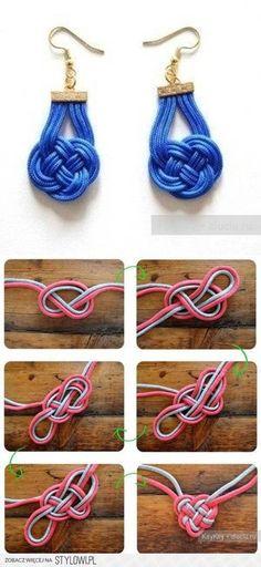 DIY chineese knoop oorbellen - geknipt van stylowi.pl