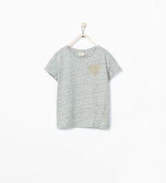 HEART APPLIQUÉ T-SHIRT-View all-T-shirts-Girl (3-14 years)-KIDS | ZARA Finland