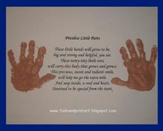 Handprint and Footprint Arts & Crafts: Handprints with Poem