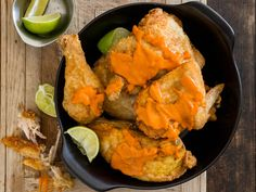 #Recipe: Southern fried chicken with sriracha butter. YUM.