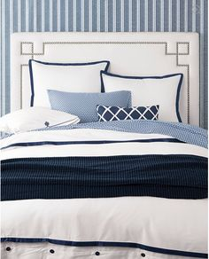 Catching some zzzz -  BLUE & WHITE & NAVY BEDROOM