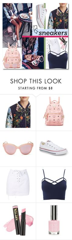 """White Sneakers"" by elza76 ❤ liked on Polyvore featuring Parker, MCM, Marc Jacobs, Converse, Topshop, Charlotte Russe, L.A. Girl and plus size clothing"
