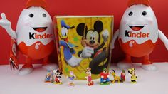 Surprise eggs Kinder Surprise Mickey Mouse Clubhause Easter Mix Chocolate