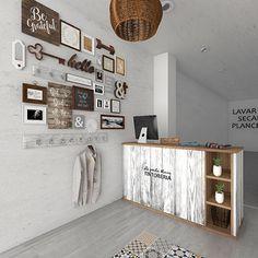 Boutique Interior, Boutique Decor, Cafe Interior Design, Cafe Design, Store Design, Boutique Stores, Deco Spa, Rustic Salon, Laundry Business
