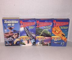 Lot of 4 Thunderbirds VHS Gerry Anderson Supermarionettes 1992 1994