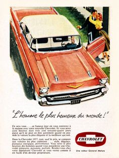 Chevrolet Bel Air Sport 1957 Le Plus Heureux - Mad Men Art: The 1891-1970…