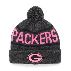 716548c2bb3 Green Bay Packers Northmont Cuff Knit Pink Charcoal 47 Brand Womens Hat
