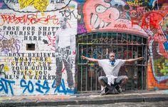 Homeless man Matt in Melbourne's famous Hosier Lane