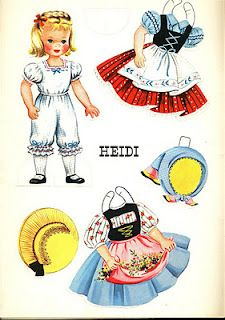 These are Heidi paper dolls. She's the original Swiss Miss. ;-)