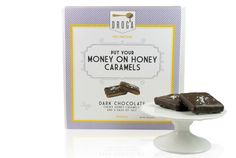 Put Your Money On Honey caramels with  dark chocolate, honey caramel & sea salt. I got my family hooked on these...