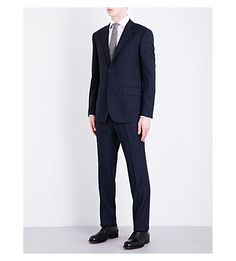 HARDY AMIES Brinsley-Fit Wool Suit. #hardyamies #cloth #suits & tailoring