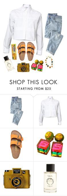 """the adventure begins"" by walkingdisastersum41 ❤ liked on Polyvore featuring moda, Wrap, Kenzo, Chanel, Holga, Heeley Parfums i Paula Mendoza"