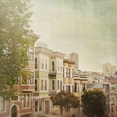 Houses - San Francisco Photography, Victorian Buildings - California, travel photography. $30.00, via Etsy.