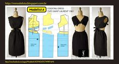 DIY Vintage 1960s Yves Saint Laurent Cocktail Dress - FREE Sewing Pattern Draft