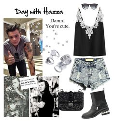 """surprise shoutout 2"" by maryanacoolstyles ❤ liked on Polyvore featuring WithChic, Nicholas Kirkwood, Valentino and Ray-Ban"