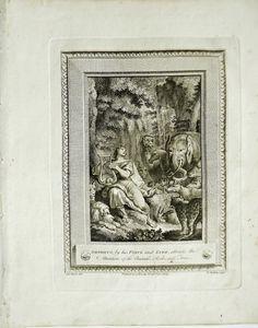 Orpheus 1700s Eisen Walker Copper-Plate Engraving