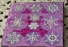 Snowflakes - so many free patterns!  Generously shared by Deborah Atkinson of Snowcatcher.  July is a good time to start  :-)   . . . .   ღTrish W ~ http://www.pinterest.com/trishw/  . . . .   #crochet #motif