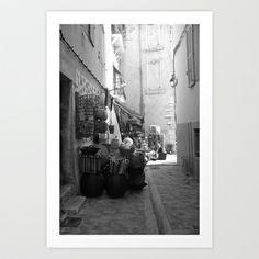 Cassis street Art Print by Lbert - $15.00