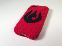 Custom order for Kara iPhone 4 and 5 Fire Nation Logo Avatar the Last Airbender Crocheted Cover / Case