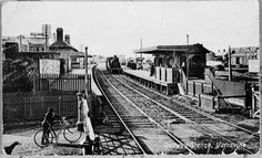 Yarraville Railway Station in Victoria in 1890.The station opened on 20 November 1871 as South Footscray Railway Station.Photo by State Library of Victoria.A♥W