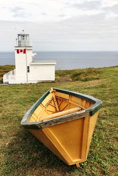 Bell Island Lighthouse located on Bell Island, Newfoundland and Labrador, Canada. Newfoundland Canada, Newfoundland And Labrador, Beautiful Sites, Beautiful Places, The Light Between Oceans, Float Your Boat, Ocean Sounds, Water Tower, Small Boats