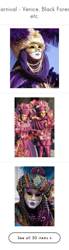 """""""Carnival - Venice, Black Forest, etc."""" by franceseattle ❤ liked on Polyvore featuring costumes, home, home decor, carnival halloween costumes, ball costume, womens halloween costumes, masquerade costume, carnival womens costumes, masks and mardi gras"""