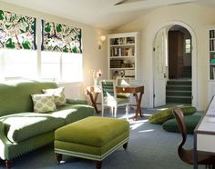 Do you love the look of fabric shades but don't want to fork over the cash? design by Coddington Design , via Desire to Inspire Shades c...