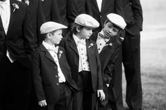 What an Adorable addition to the wedding party . These junior groomsmen melted hearts Walking down the aisle in their stylish tuxes and bowties. Their sweet paddy caps tied the whole look together . Photo by : Paulo Basseto Photography