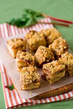 Down home end-of-summer taste at its yummiest: Rhubarb Crumb Bars. #fruit #rhubarb #food #bars #baking #cooking #dessert