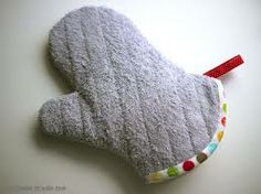 reuse old towels as oven gloves