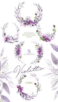 Ideas For Flowers Watercolor Invitation Floral Wreaths Floral Wreath Watercolor, Watercolor Flowers, Painting Flowers, Watercolor Wedding, Watercolor Invitations, Floral Invitation, Corona Floral, Clip Art, Art And Illustration