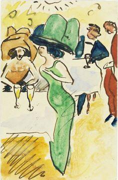 Al Caffè (Max Pechstein, 1910)
