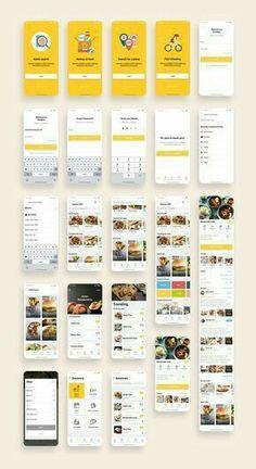 Food App Bundle UI Kit – Vusi Samuel – Willkommen in der Welt der Frauen Mobile Ui Design, App Ui Design, Interface Design, Pos Design, Android Design, Android Ui, Wireframe, Web Design Quotes, App Design Inspiration