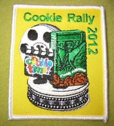 Girl Scouts 100th Anniversary Middle Tennessee Cookie Rally 2012 patch. An ebay find.