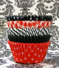 orange and black cupcake liners