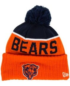 New Era Chicago Bears Classic Sport Knit Hat - Navy/Orange Adjustable