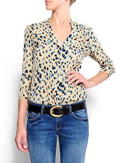 mango retro blouse