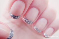 #manicure #nails #nail art #ngnails #blog #paznokcie #silver #french #glitter