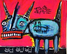 """git along little dogies"" by washington, dc artist matt sesow.  see his latest at  new.sesow.com"