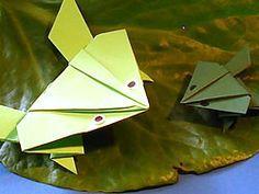 springender Frosch aus Papier