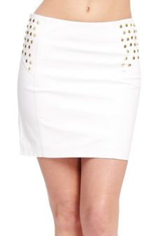 39% Off was $32.95, now is $20.00! 2B Leatherette Stud Yoke Mini Skirt + Free Shipping