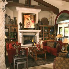 Spanish Colonial Living Room Part 92