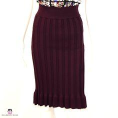 Kerisma Bordeaux Knit Skirt