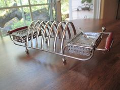 Vintage Toast Rack - with condiment dishes!
