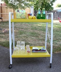 drink cart. Love the color