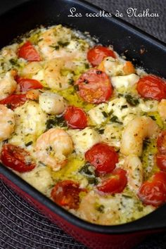 In starter or main course, whatever … this dish is ready and delicate … - Recipes Easy & Healthy Healthy Dinner Recipes, Breakfast Recipes, Cooking Recipes, Fish Recipes, Seafood Recipes, Feta, Food Inspiration, Entrees, Good Food