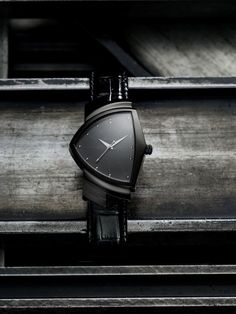 Our iconic Ventura gets a new look in a brand new full black edition. The distinctive, asymmetric case is PVD coated to achieve the stealth look. Pioneering, unconventional and as individual as those who wear it, this Ventura is a daring style statement.