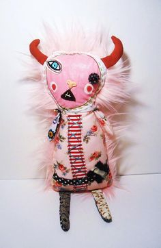 Handmade Art Doll Monster Faunia by JunkerJane on Etsy, $102.00